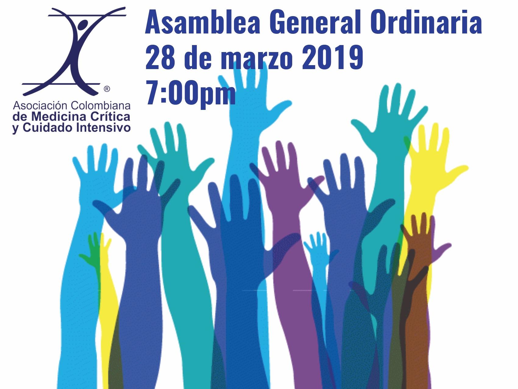 Convocatoria asamblea general ordinaria marzo 28-2019